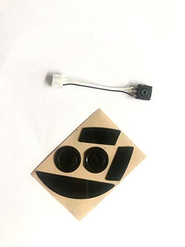 Mouse Feet Skates with Mouse Wheel Encoder for Razer Mamba Tournament Edition/Razer Mamba Chroma Wired/Wireless Ergonomic Gaming Mouse