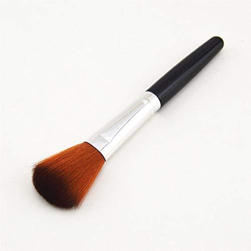 Une capacité de décoration cheveux mous poudre libre maquillage maquillage fondation débutant blush brosse portable multi-fonction poignée noire tube argent café deux couleurs cheveux