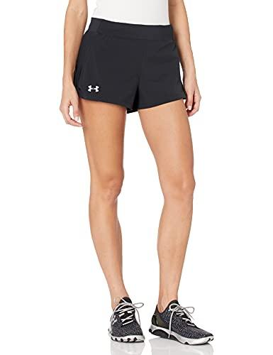 Under Armour Women's Speedpocket Run Short, Black (001)/Reflective, Small