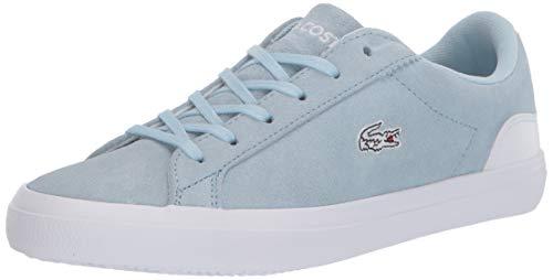 Lacoste Women's Lerond Sneaker, Light Blue/White, 9 Medium US