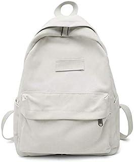 SODIAL Canvas Women Backpack Casual School Travel Backpack Woman Backpacks Bag Blue