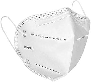 Máscaras KN95 Branca Lisa Adulta KN95 - Kit 10, 20, 30, 40, 50, 100 Unidades - FPP2 PFF2 - Filtragem > 95% - Embalagem de ...
