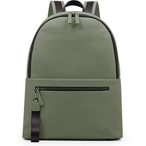 The Friendly Swede Classic Laptop Backpack for Women and Men - Stylish Business, Work, School Bookbag, 13 inch Laptop - STORVRETA (Green)
