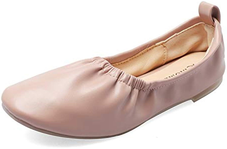 HOESCZS Erbsen Schuhe Weiblichen Frühling Neue Einbeinige Frauen Frauen Schuhe Flache Sohle Schuhe Flachen Mund Scoop Schuhe  verschiedene Größen