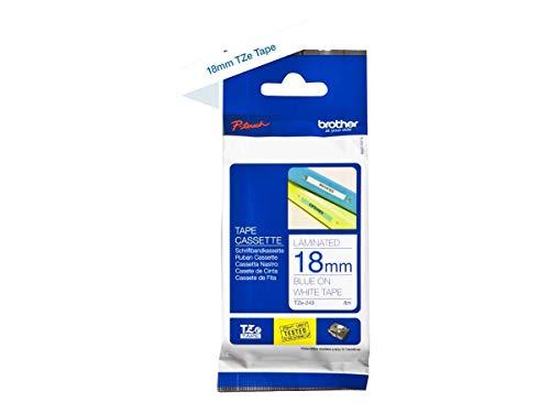 Preisvergleich Produktbild Brother Original P-touch Schriftband TZe-243 18 mm,  blau auf weiß (kompatibel u.a. mit Brother P-touch 1830VP,  -D400 / VP,  -D450,  -D600 / VP,  -P700