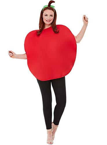 Funidelia   Disfraz de Manzana roja para Hombre y Mujer Talla Estndar Fruta, Comida - Rojo