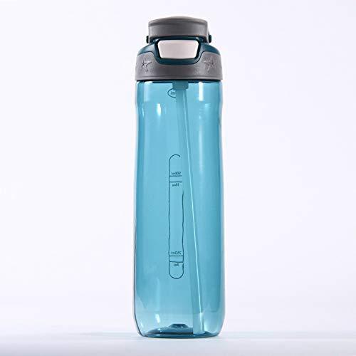 MSNLY Outdoor-Sport Anti-Fall Tritan Plastikbecher Outdoor-Sportflasche mit großer Kapazität kreative tragbare Griff Strohbecher