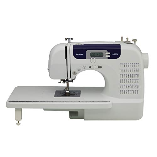 Brother Sewing and Quilting Machine, CS6000i, 60 Built-in Stitches, 2.0' LCD Display, Wide Table, 9 Included Sewing Feet
