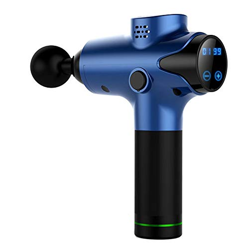 Massage Gun Deep Tissue Muscle Massager Portable Electric Pain Relief Percussion Therapy (-Blue)