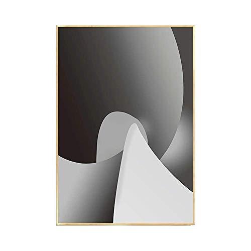 DJY-JY Blanco y Negro Abstracta Decorativa Pintura Pinturas salón del contexto del sofá murales Minimalistas Modernas de Estilo Minimalista escandinavo Una versión de 40 * 60 cm Arte clásico