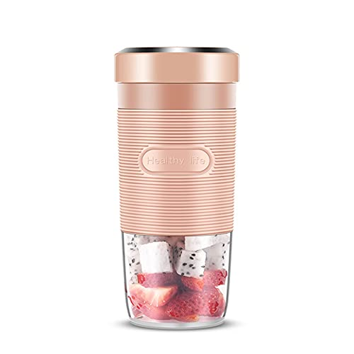 Portable Blender, Personal Size Juicer Cup with USB Rechargeable, Electric Power Mixer for Fruit And Vegetable, for Household, Travel, Outdoor,Pink