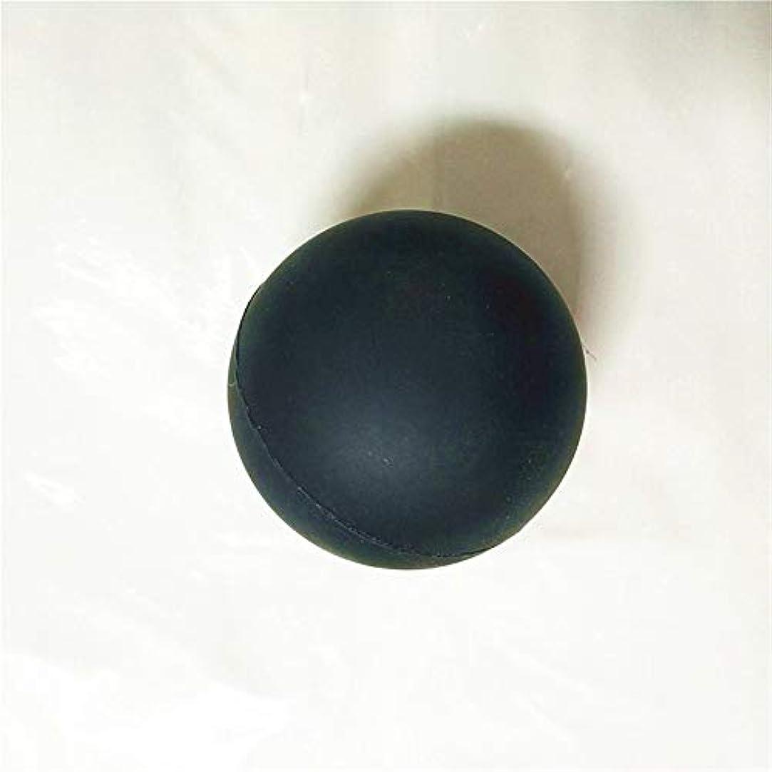 兵器庫同級生回転するシリコンフェイシアソリッドマッサージボール - ブラック