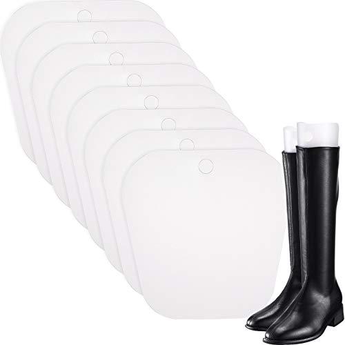 Bememo 8 Packungen Stiefelspanner Form Einsätze Hoch Stiefel Stütze für Damen und Männer (Transparent, 8 Zoll)