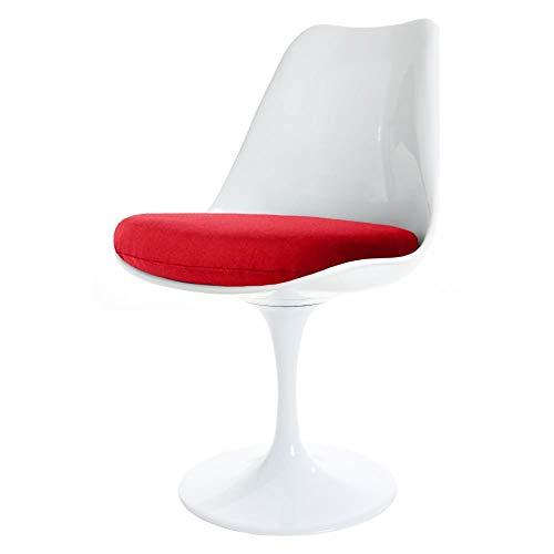 Eero Saarinen Weiße und rote Tulpe Style Side Chair