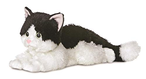 AURORA, 31420, Flopsies Oreo The Cat, 12In, Soft Toy, Black and Wh