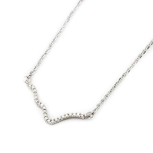 N/A Halskette Anhänger Sommermode Zickzack Kristallwelle Halskette Romantische Liebe Elektrokardiogramm Puls Charme Herzschlag Anhänger Halskette Frauen Schmuck Weihnachts Geburtstagsgeschenk
