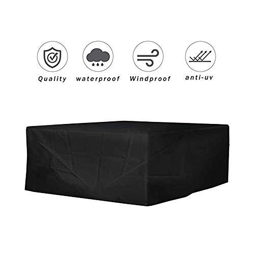 NINGWXQ Garden Furniture Cover Outdoor bescherming zeildoek van Sofa Idle Item Dust-proof gemakkelijk schoon te maken, 2 kleuren, 31 Maten (Color : Black, Size : 210×110×70cm)