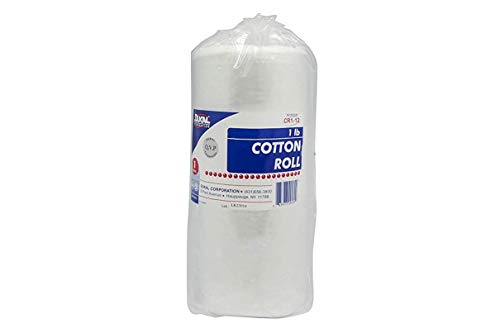 Dukal Cotton Roll, 1 lb. (Pack of 12), White CR1-12