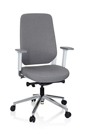 Preisvergleich Produktbild hjh OFFICE 790006 Profi Bürostuhl CHIARO T4 Stoff Grau / Weiß Drehstuhl ergonomisch,  Armlehnen,  Sitzhöhe & -Tiefe verstellbar