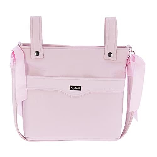 Bolso para Silla de Paseo - Talega para silla de Paseo Rosy Fuentes- Incluye Asa larga para el hombro, bolsillos interiores y Lazos - Limpieza Sencilla 0-rosa