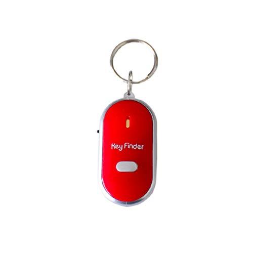 MOHAN88 Buscador de Llaves de Silbato Anti-perdido de tamaño portátil Parpadeante Pitido Remoto Bolsa de Llaves para niños Localizadores de billeteras Recordatorio de Alarma para niños - Rojo