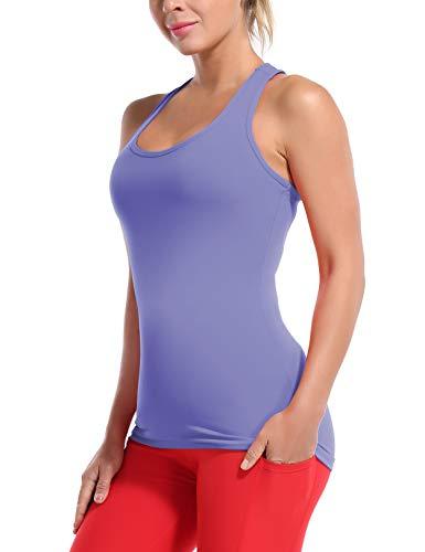 BUBBLELIME 2 Style Women's UPF 50+ Racerback Tank Tops Workout Sports Shirts - Tank Tops Soft_Lavender X-Large