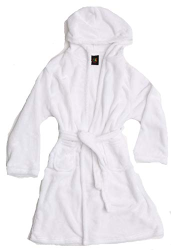 Just Love Velour Solid Robes for Girls 75604-WHT-10-12 White