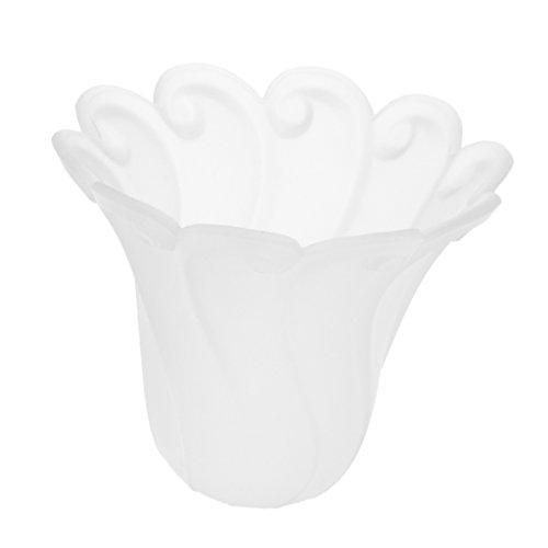 B Blesiya Ventilador De Techo Luz Tulip Ruffle Crimp Shade Frosted Vintage...