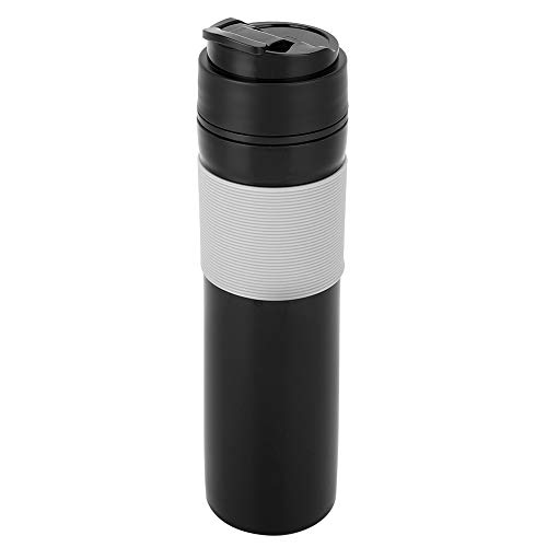 Ftory Tetera y cafetera portátil: cafetera portátil Tipo Prensa Taza de café Botella de té para Acampar, al Aire Libre y la Oficina