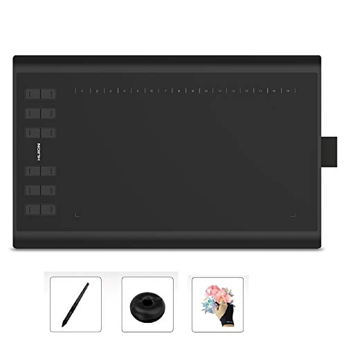 Huion 1060P 10 x 6.25 Inches Graphics Drawing Pen Tablet with 8192 Levels Pen Pressure 12 Express Keys - Upgraded Version