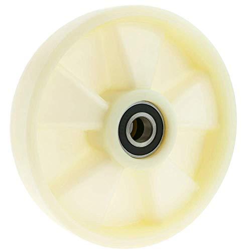 PrimeMatik - Paletten Fixierer Rad für Hubwagen Nylon Rolle 200x50 mm 850 Kg 2-Pack