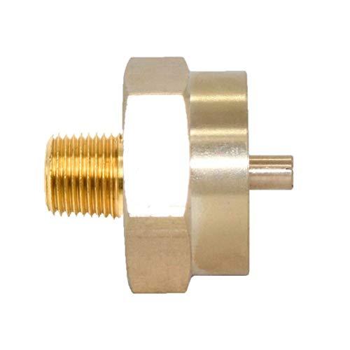 "Joywayus 1/4 Male Pipe Thread x 1""-20 Female Universal Fit 1-lb Tank Throwaway Cylinder Thread Solid Brass Fitting"