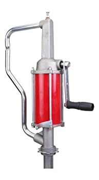 Action Pump QS-1 Pro-Lube Hand Operated Drum Pump Rotary Action Max Pressure 10 psi Max Viscosity 2000 SSU Inlet Size 3/4 in FNPT Outlet Size 1/2 in FNPT for Use On 15 to 55 gal Drums