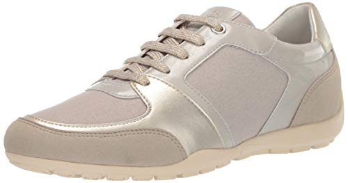 Geox Damen RAVEX 1 Fashion Sneaker Turnschuh, beige/braun, 38 EU