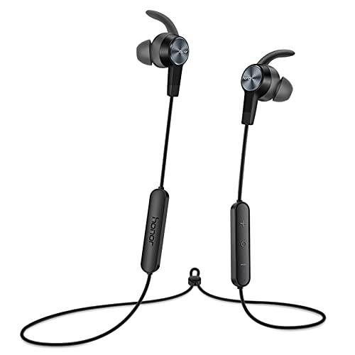 HONOR Auricolari Bluetooth Sport AM61, Cuffie Magnetiche Wireless con Microfono, 11H di Riproduzione, Resistenti al Sudore, Cuffie Sportive da Palestra, Auricolari In-Ear per iOS Android, Nero