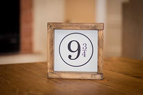 43LenaJon Wood Sign, Harry Potter Platform 9 en 3/4 rustieke boerderij kinderen kamer decor, kantoorbord