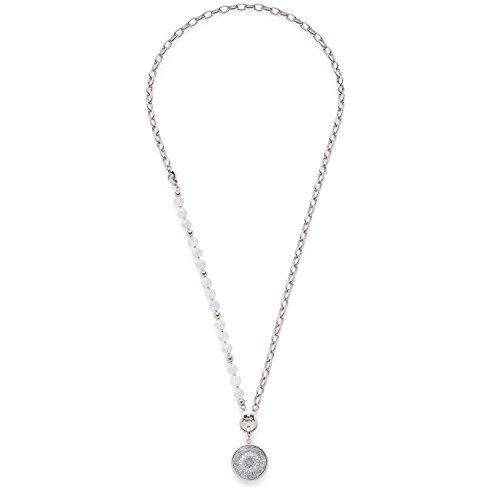 Leonardo Jewels Damen Schmuck-Sets Halskette Darlin's Roma Edelstahl Glas silber 80 cm 016440
