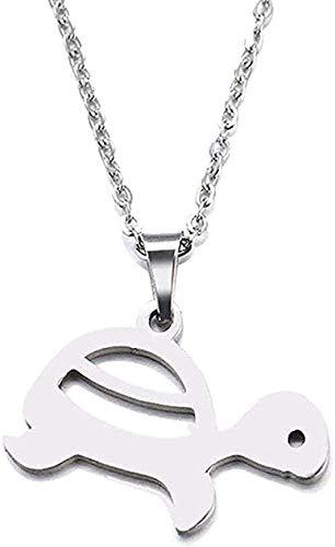 JSYHXYK Collar Collar Collar Acero Inoxidable Colgante Tortuga Tamaño 45Cm Regalo