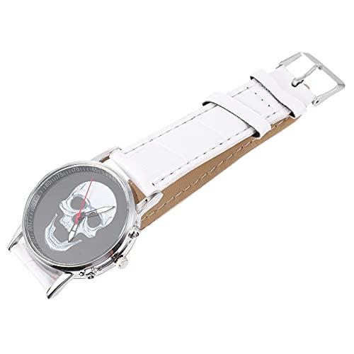 UKCOCO Reloj de Pulsera con Calavera para Hombre Reloj de Cabeza con Calavera Accesorio para Halloween ()