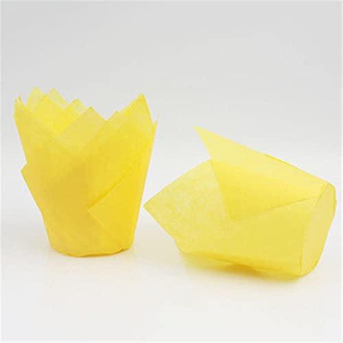 SDFW 50Newspaper Style Cupcake Liner Taza para Hornear para Banquete de BodaMuffin Cupcake Taza de Papel a Prueba de Aceite