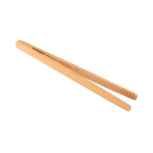 Pinzas de madera, pinza de bambú reutilizable para té, pinzas de bambú reutilizables para tostadas, juego de 2 pinzas anti-calientes