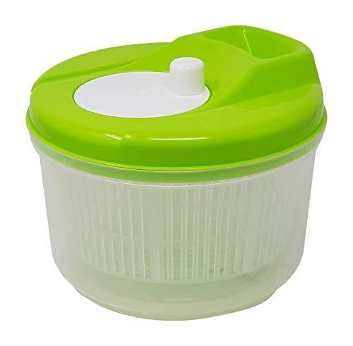 Tosend Salatschleuder trocknet Gemüse Salatschüssel platzsparend (grün, 3,5 Liter)