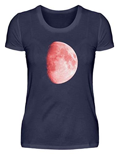 ROCK-WITCHES Der Rote Mond wird auch als Blutmond - Reloj de pulsera Camiseta para mujer con mensaje 'Él es un fenómeno astronómico' azul oscuro M
