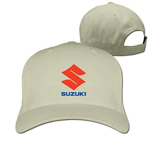 V66W88L68 Design Suzuki Logo Cool 100{b4cd6473408707fe1ca37915dd032dd6020b469e47e74faf8c565c27ccfe76b8} Cotton Peak Cap for Boys White,Hüte, Mützen & Caps