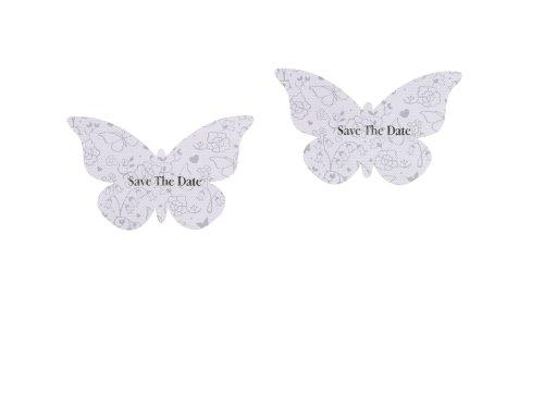 Talking Tables Something in The Air Einladungskarte, Schmetterling, Weiß, 10Stück