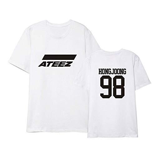 APHT Unisex KPOP ATEEZ Crop Tops Camisetas de Manga Corta T-Shirt Summer Short T-Shirt Hongjoong Seonghwa Yunho Yeosang San Mingi Wooyoung Jongho