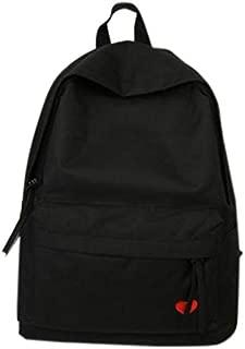 TOOGOO New High School Student Bag Female Canvas Backpack Girl Travel Large Capacity Backpack Black