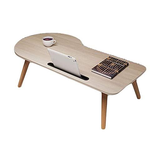 O&YQ Gateleg Tisch/Klapptisch Klapptisch Laptop Schreibtisch Bett Schreibtisch Einfach Mini Schreibtisch Schreibtisch Dormitory Lazy Table, Eiche Farbe, Groß