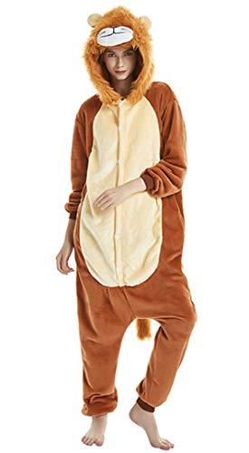 Silver Basic Pigiama Bambino Lungo Animali Tuta Intero Unicorno Tigre Leone Invernale Fancy Loungewear,Leone-3,S…