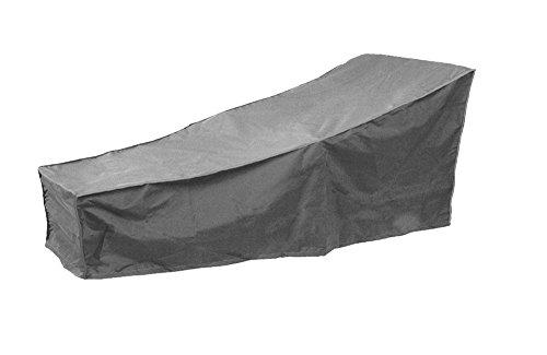 Mitefu Housse de Protection pour Chaise Longue de Jardin, Patio, Couverture pour Bain de Soleil Imperméable et Durable, 2m L x 0.8m W x 0.8m H/0.4m H, Grisee
